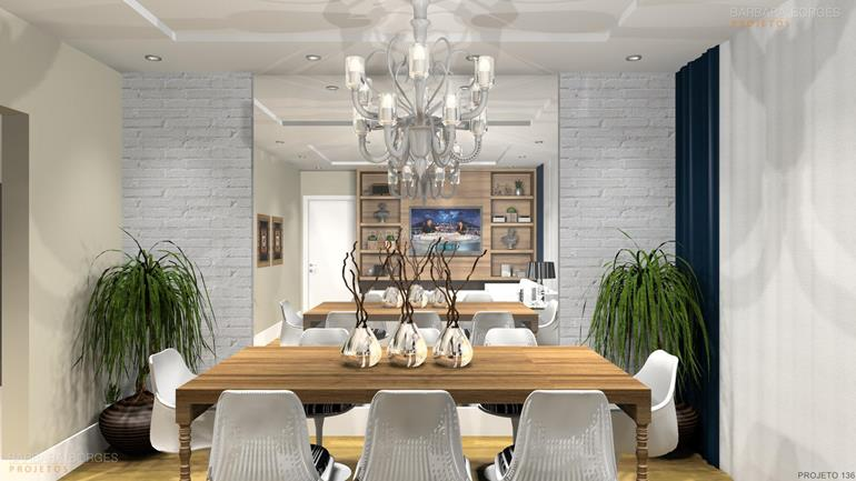 cores para ambientes internos modelo sala jantar