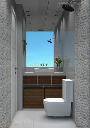 modelos banheiros pequenos