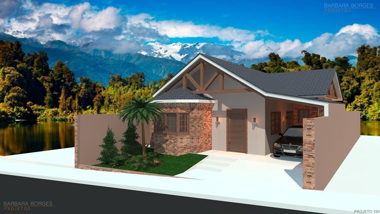 decoração de ambiente modelos casas 3 quartos