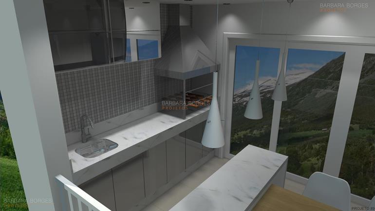 cozinhas itatiaia planejadas modelos churrasqueiras
