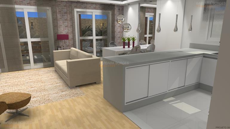 Modelos cozinhas barbara borges projetos for Modelos de interiores de casas pequenas