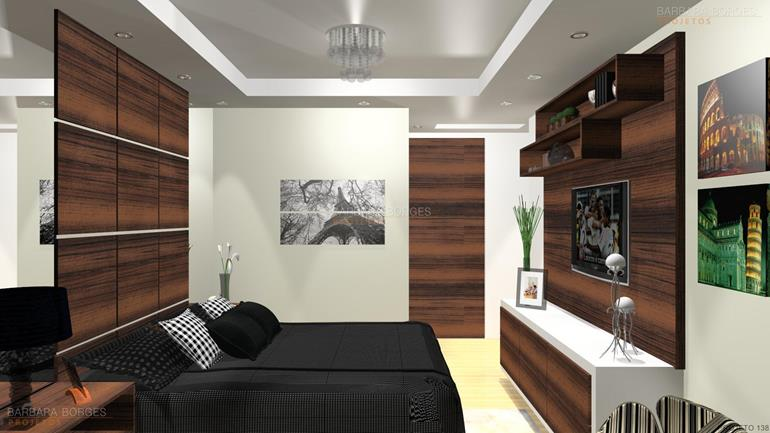 decoração sala de estar e jantar integradas modelos quartos casal