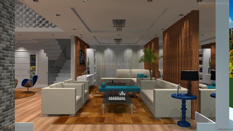 decoração sala de estar e jantar integradas moveis carraro