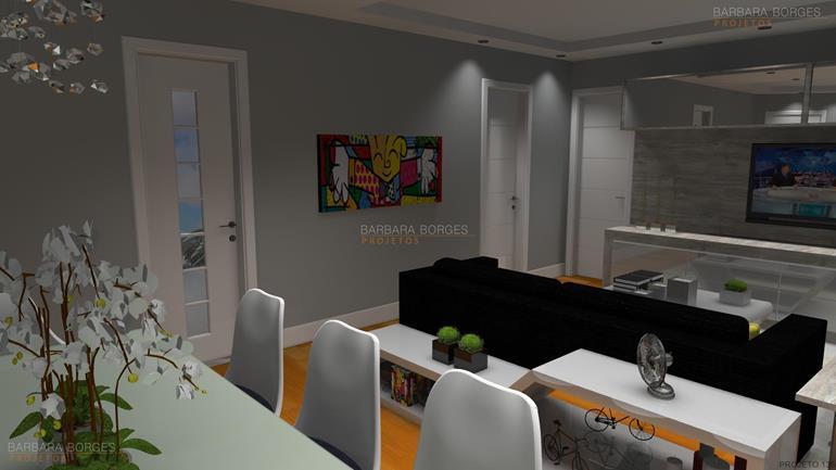 iluminação sala de jantar moveis planejados apartamentos pequenos