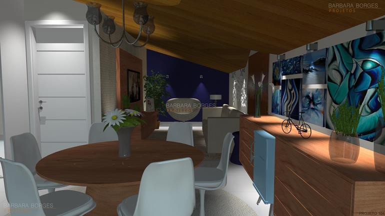 modelos de mesas de jantar moveis planejados sala
