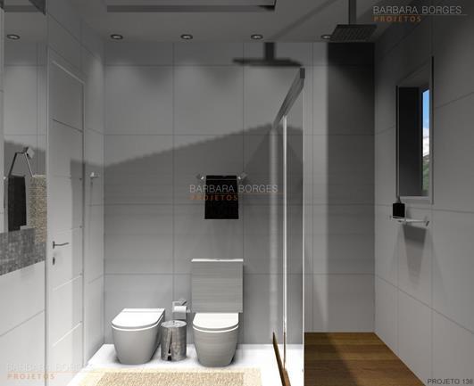 Pastilhas Adesivas Banheiro  Barbara Borges Projetos -> Banheiros Planejados Sca
