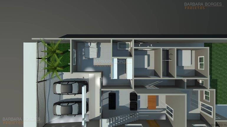 projeto de casa 3 quartos planta casa 2 suites 1 quarto