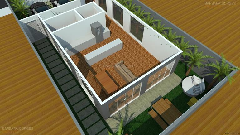Planta Casa 3 Quartos Garagem Barbara Borges Projetos