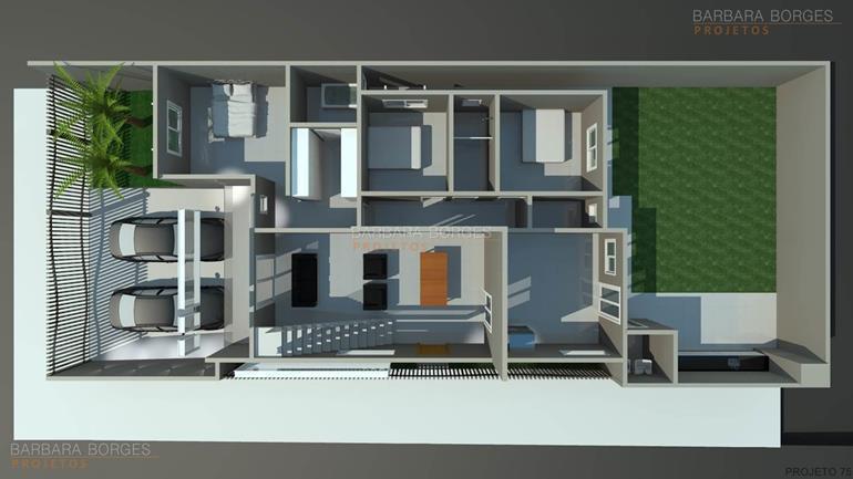 projeto de eletrica planta casa 3 quartos garagem