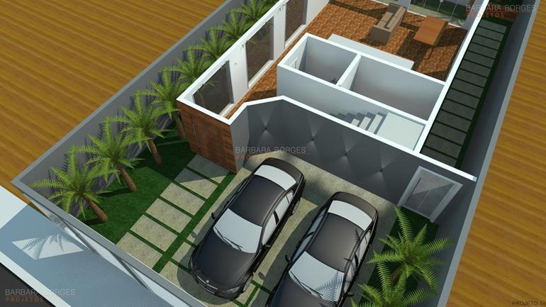 portal de decoração planta casa 3 vagas garagem