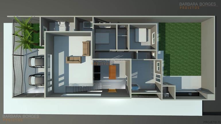 projetos de banheiro planta casa 3 vagas garagem