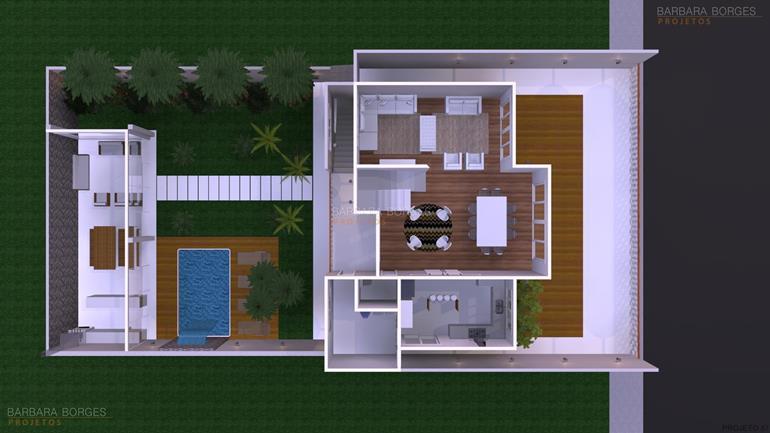 móveis todeschini planta casa ambientes integrados