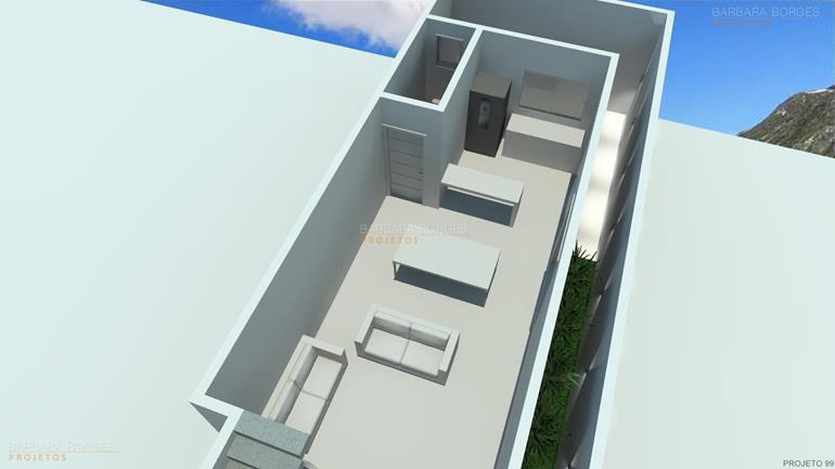 projeto de casa 3 quartos planta casa ambientes integrados