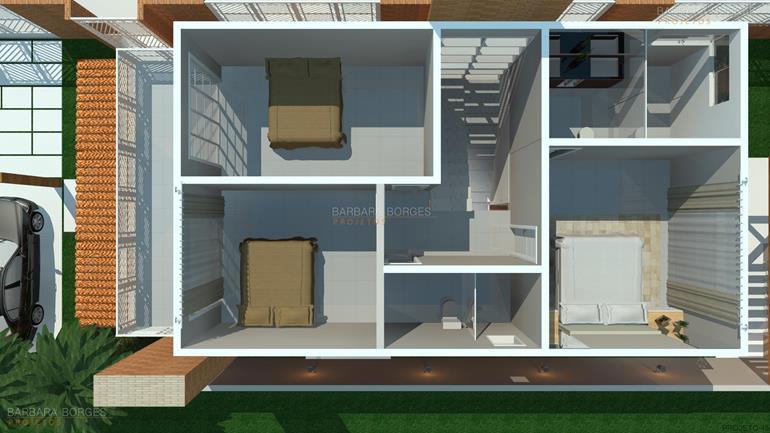 pisos para quartos planta casa area lazer