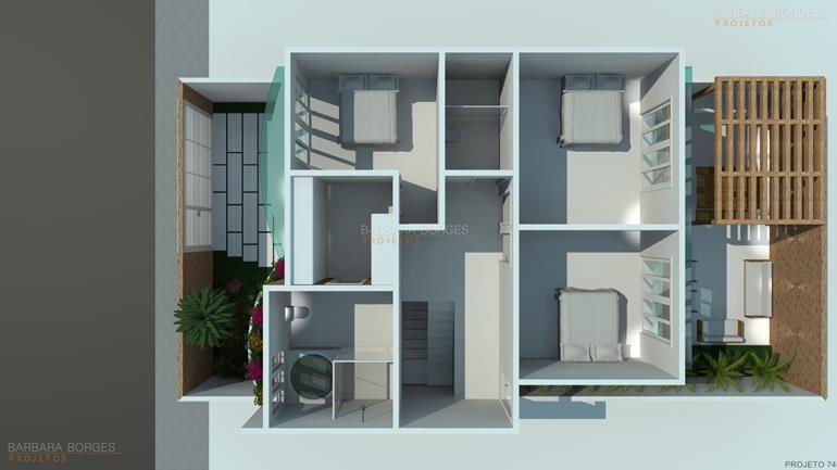 quarto infantil menino e menina planta casa design moderno