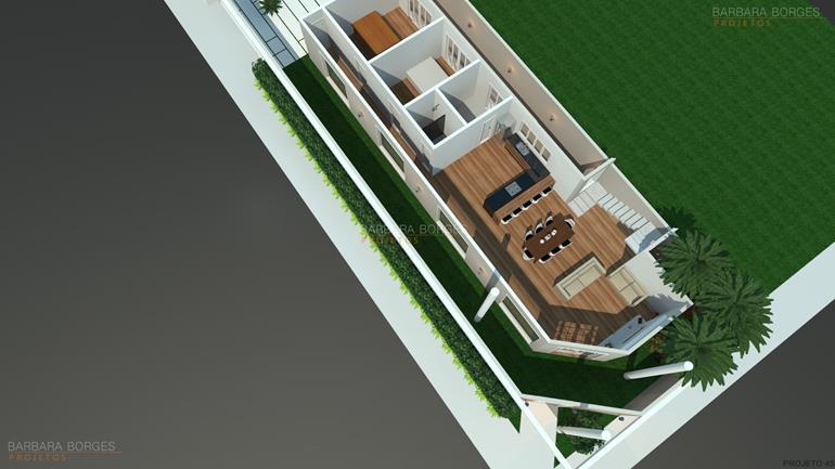 portal de decoração planta casa fachada madeira