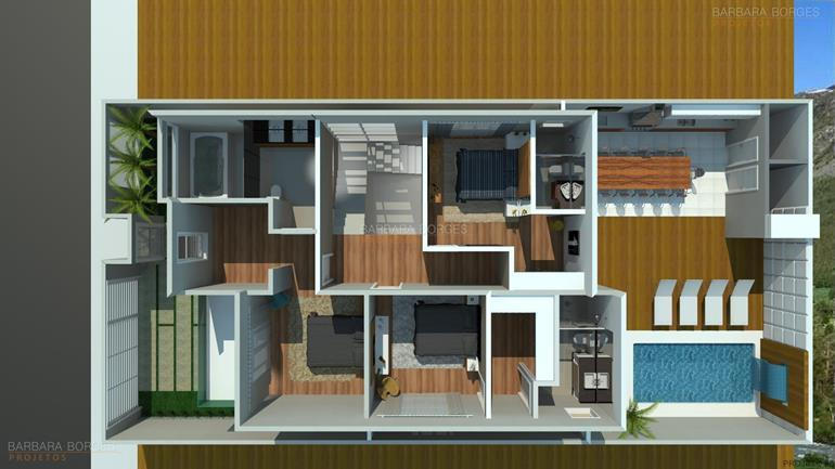 quarto planejado menina planta casa fachada madeira