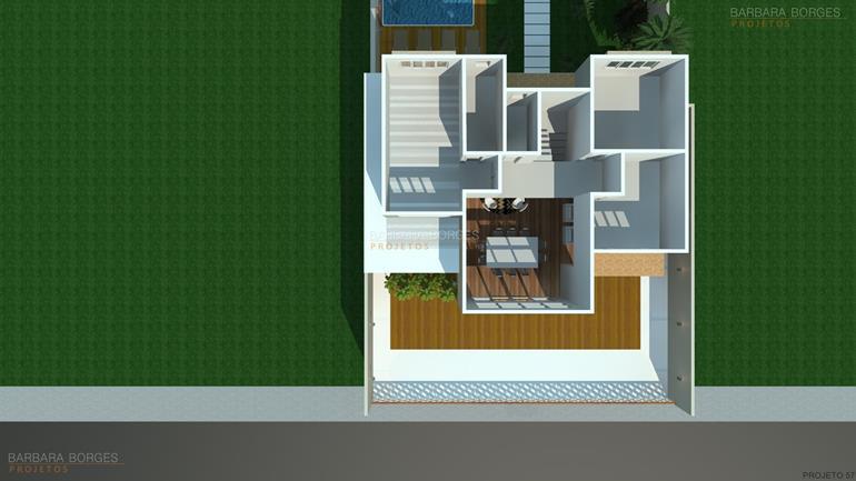 plantas de casas com piscina planta casa fachada tijolinho
