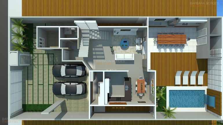 quartos casal pequenos planta casa fachada tijolinho