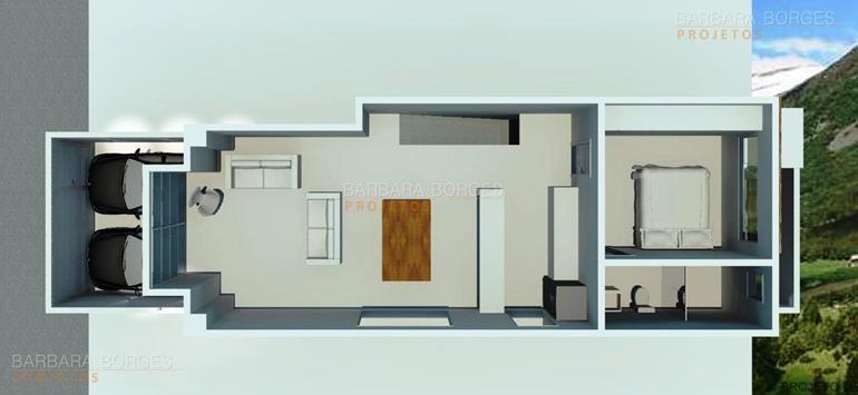 planta casa geminada quartos
