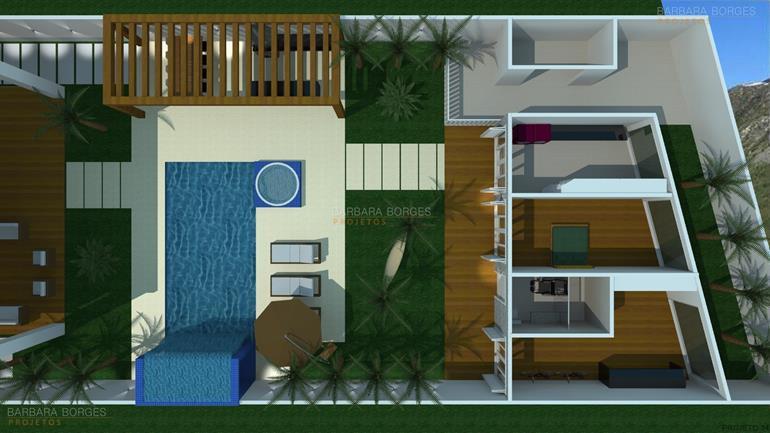 projetos de banheiro planta casa moderna
