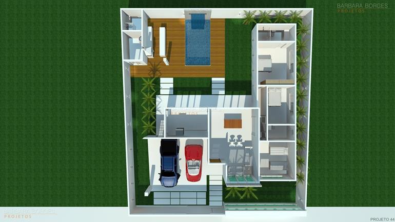 projeto de casa 3 quartos planta casa moderna area gourmet
