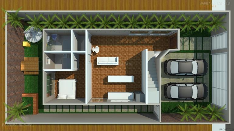 Planta casa moderna area gourmet barbara borges projetos - Plantas pequenas de interior ...