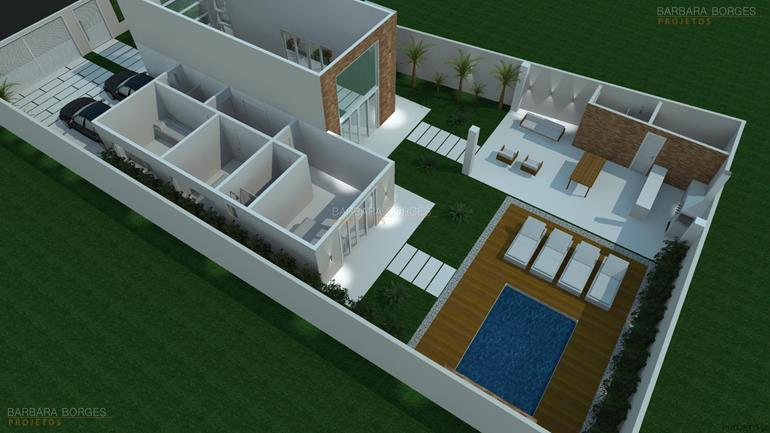 quartos casal pequenos planta casa moderna area gourmet
