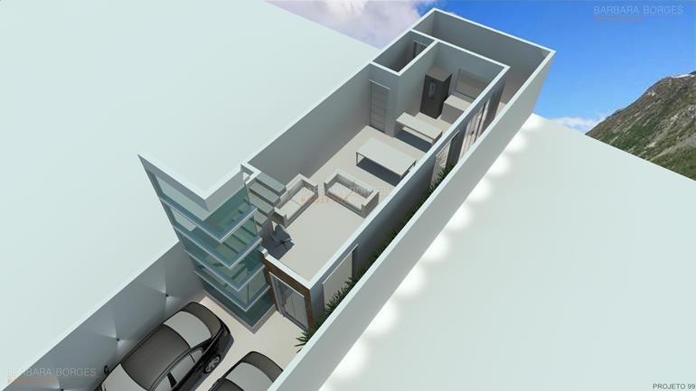 planta casa moderna area gourmet
