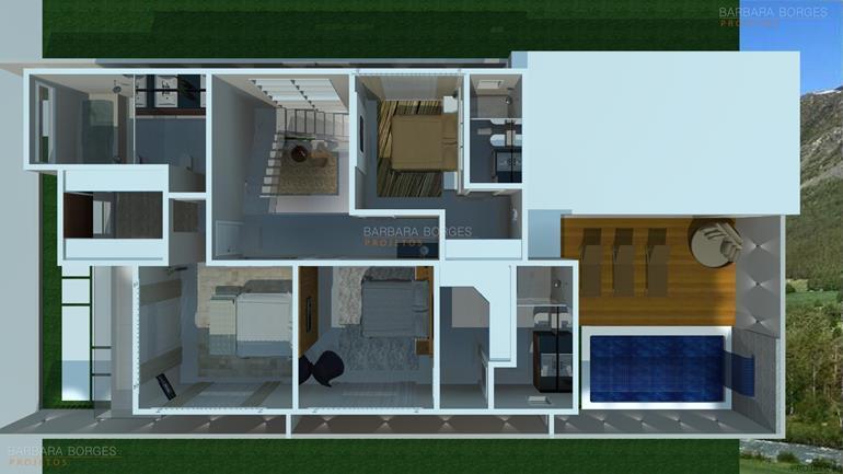 Planta casa moderna area gourmet barbara borges projetos for Casa moderna 2 plantas
