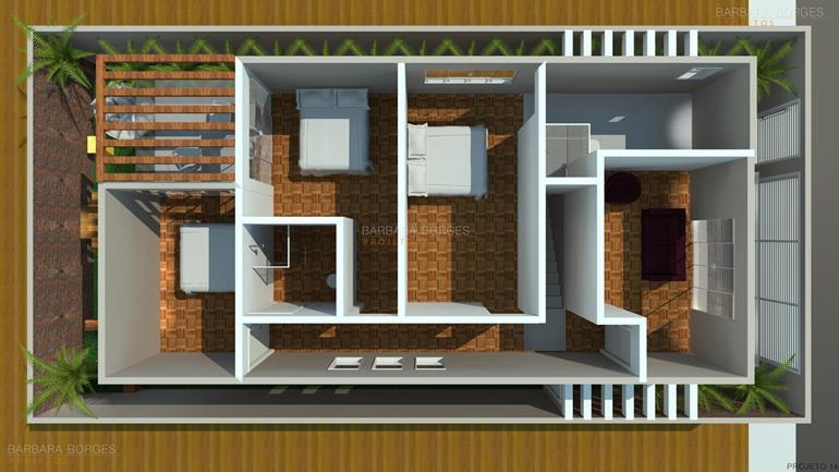 quarto infantil modulado planta casa pequena