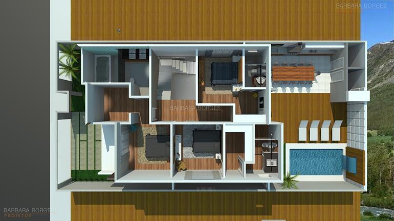 quartos de solteiro planejados planta casa popular 46 m2