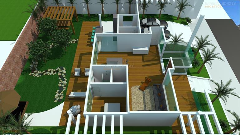 quartos casal planejados planta casa portao fechado