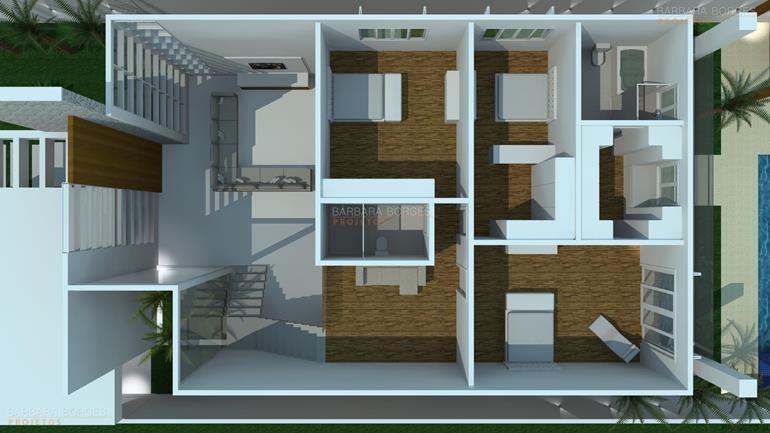 quarto planejado menina planta casa portao madeira