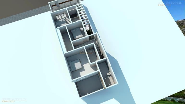 quarto de criança menina planta casa simples garagem