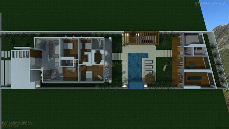 quartos casal pequenos planta casa simples garagem
