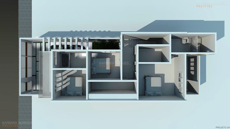 Planta Casa Simples Moderna Barbara Borges Projetos