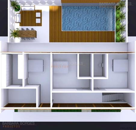 planta casa simples moderna