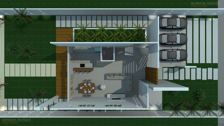 Planta casa sobrado l piscina barbara borges projetos for Plantas de casa adentro