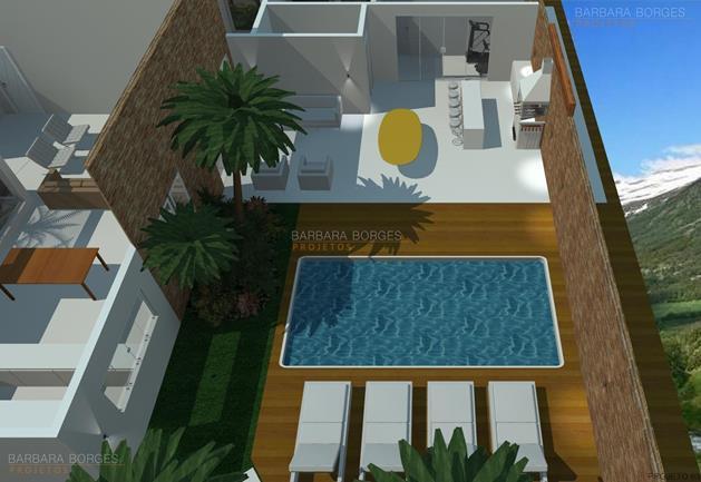 revestimento de parede cozinha planta casa sobrado l piscina