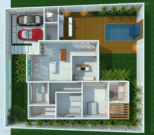 quartos casal planejados planta casa telhado aparente