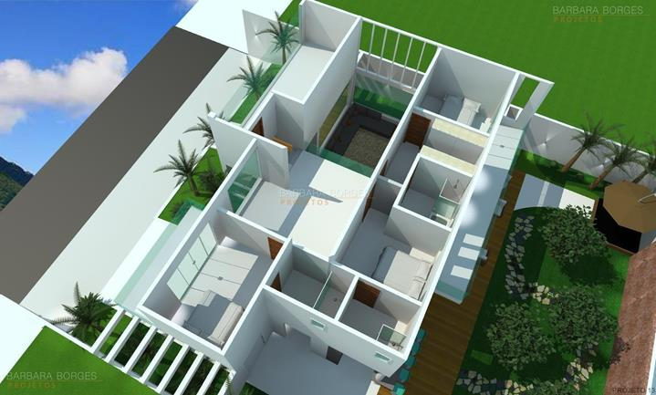 quartos decorados para bebe planta casa telhado aparente