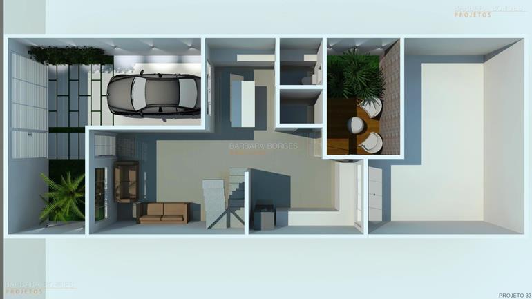 Planta casa terrea 3 quartos barbara borges projetos for Jardins mangueiral planta 3 quartos