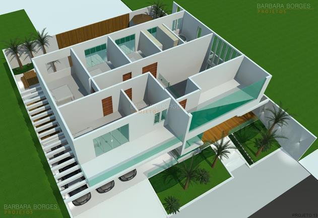 Planta casa terrea 3 quartos barbara borges projetos for Plantas para casa