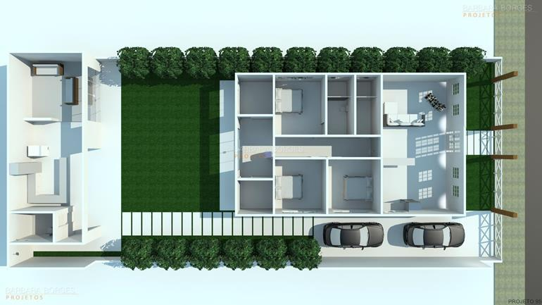 sala de jantar 6 lugares planta casa terrea 3 quartos