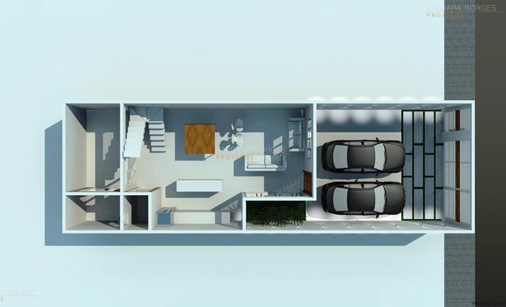 quartos casal planejados planta casa terrea area gourmet