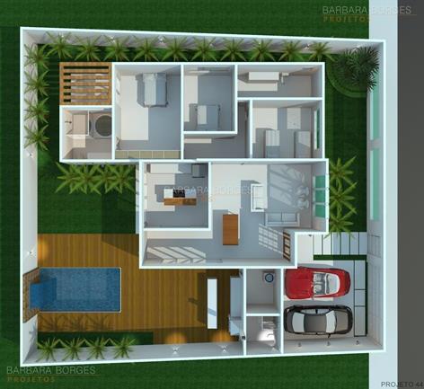 quartos de casal pequenos decorados planta casa terrea area gourmet