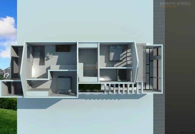 quartos de bb planta casa terrea contemporanea