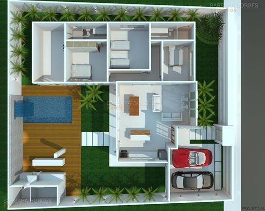 quartos de solteiro planejados planta casa terrea contemporanea