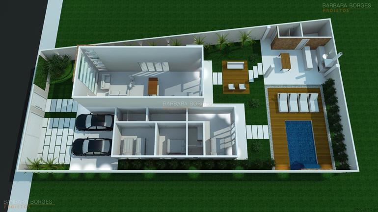 planta casa terrea escritorio